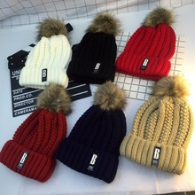 2017 New Fashion Pompom Warm Faux Fur Pompom High Quality Winter Pompom Hat