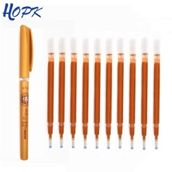 10Pcs/lot Gold Refill Rod Buddhist Scriptures Sutra Excerpt Special Refill Writing Painting Gel Pen School Supplies Stationery
