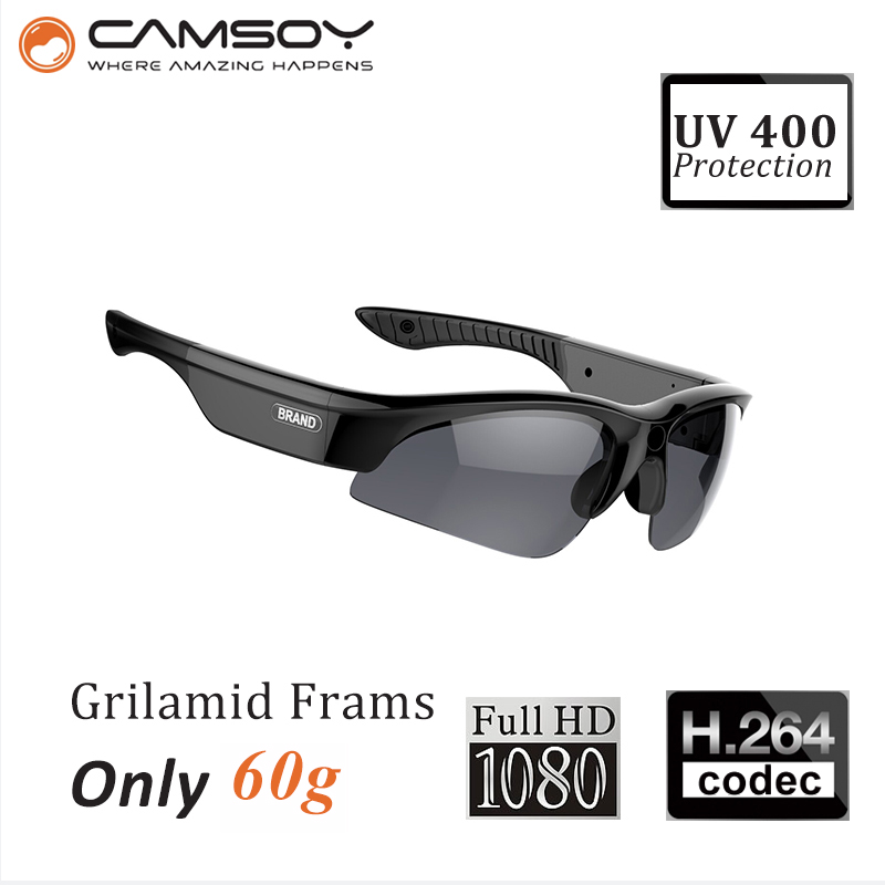 SS80 Real 1080P Glasses Camera UV400 Protection Glasses Camera Recorder Sports Glasses Camera Sunglasses HD Camera Sunglasses HD topeak outdoor sports cycling photochromic sun glasses bicycle sunglasses mtb nxt lenses glasses eyewear goggles 3 colors