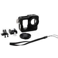 Dla GoPro Aluminium Shell Rama Obudowa Ochronna Obudowa Z Filtrem UV Lens Cap Dla Gopro Hero 4 edycja Akcesoria
