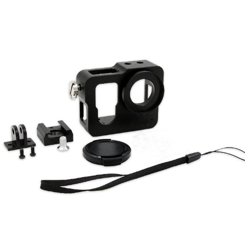 Voor GoPro Aluminium Shell Frame beschermende behuizing met UV-filter Lensdop voor GoPro Hero 4-editie accessoires
