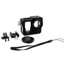 Для GoPro алюминий В виде ракушки Рамка защитный Корпус чехол с УФ-фильтр объектива Кепки для GoPro Hero 4 edition Аксессуары