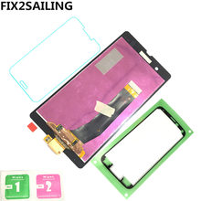 LCD Display Digitizer Sensor Glass Panel Assembly Replacement Part For Sony Xperia Z L36H L36i C6606 C6603 C6602 C660X C6601(China)