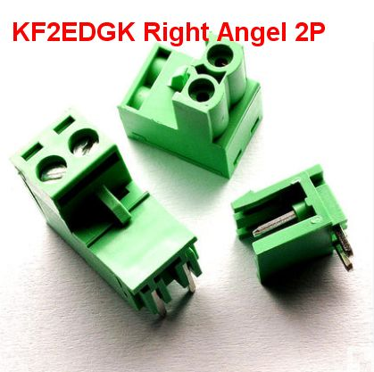 10 sets/lot HT5.08 2 3 4 5pin Right angle Terminal plug type 300V 10A KF2EDGK 5.08mm pitch PCB connector screw terminal block 2 set lot neutrik powercon type a nac3fca nac3mpa 1 chassis plug panel adapter