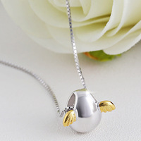 CBO46 S925 sterling silver angel egg clavicle necklace