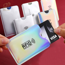 цены 20pcs Anti Rfid Laser Wallet Blocking Reader Lock Bank Card Holder Id Bank Card Case Protection Credit Business Card Holder