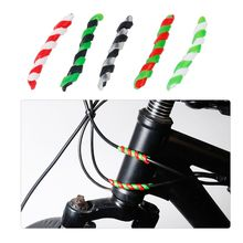 5 Pcs Bicycle Brake Cable Housing Spiral Shape Protector Bike Frame Guard Line Pipe Silicone Protection Cover
