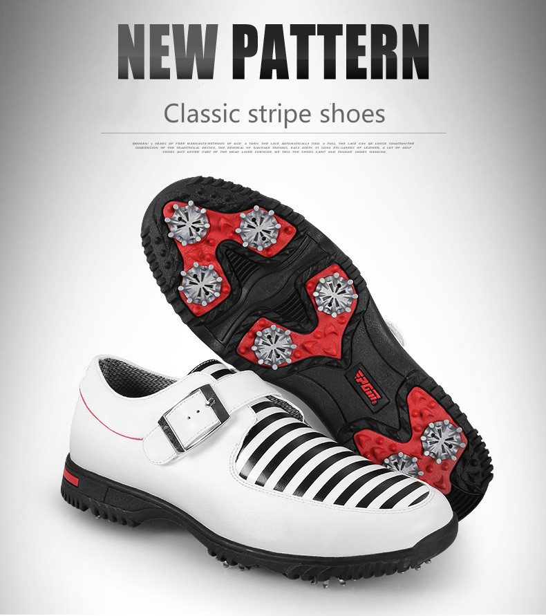 все цены на Brand PGM Genuine Leather Mens Tour 360 Boa Boost Waterproof Spiked Golf Sports Shoes Sneakers Pro Tour Steady&Waterproof онлайн