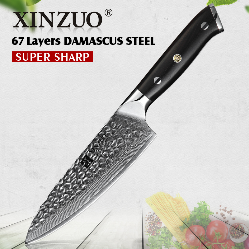 XINZUO 6 5 inch Chef Knife Damascus Stainless Steel Kitchen Santoku Knife Razor Sharp Utility Vegetable