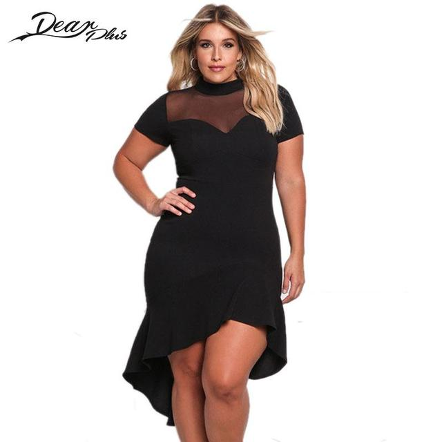 4bbfe2a66d4 Summer Lady Sexy Short Sleeve Party Dress Plus Size Bodycon Dresses For  Women Oversized Vestidos Mujer Dancing Asymmetrical Robe