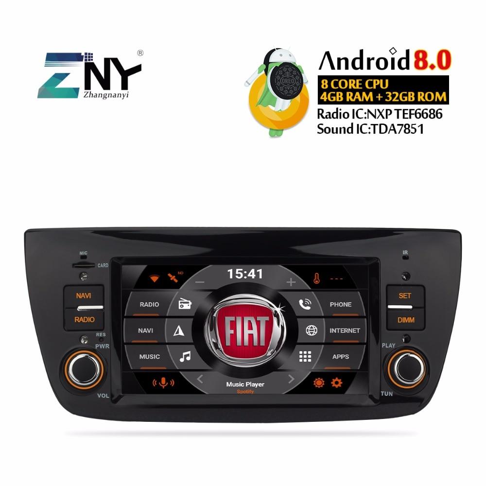 Android 8.0 Carro Estéreo de Rádio Para Fiat Doblo 2010-2015 Multimídia FM RDS Bluetooth Navegação GPS 4 + 32 GB Headunit Presente Câmera