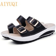 AIYUQI Women Shoes Sandals New Fashion Popular Style Comfortable Genuine Leather Woman Slip on