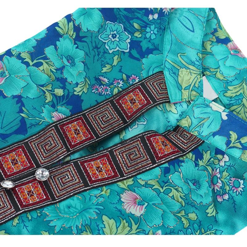 2018 Yaz Qadın Köynək Bluz Moda Şifon Yarım Qollu Plus - Qadın geyimi - Fotoqrafiya 6
