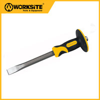 WT311 Worksitetools Cold Chisel Tool Positive Flat Groove Chisel 140mm Tip 250mm Long Rotary Hammer Drill