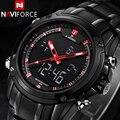 NAVIFORCE Esporte Relógio de Quartzo dos homens Relógio de Pulso Militar Relógio Para Homens Homens de Aço Completa Assista relogio masculino Reloj Hombre 2016
