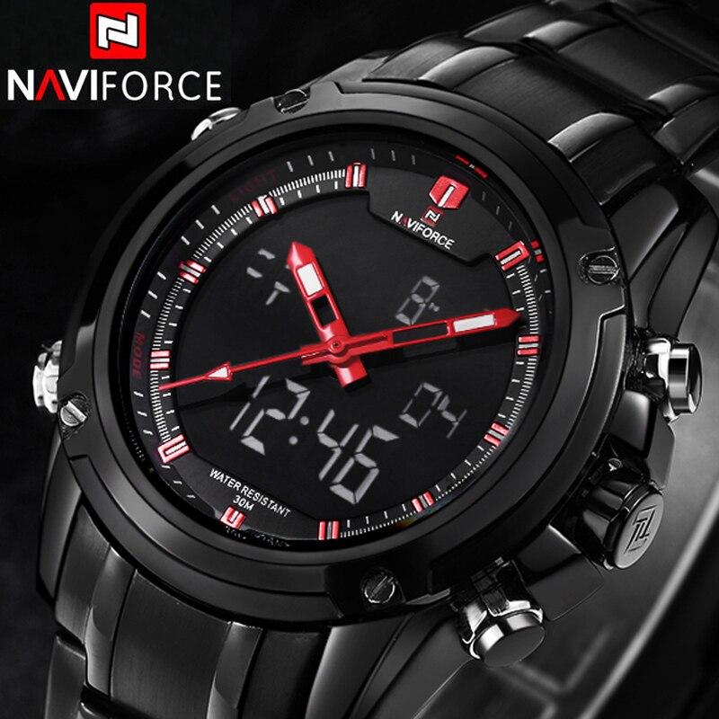 Prix pour NAVIFORCE Sport Horloge Hommes de Quartz Montre-Bracelet Militaire Montre Pour Hommes En Acier Plein Hommes Montre Relogio masculino Reloj Hombre 2016