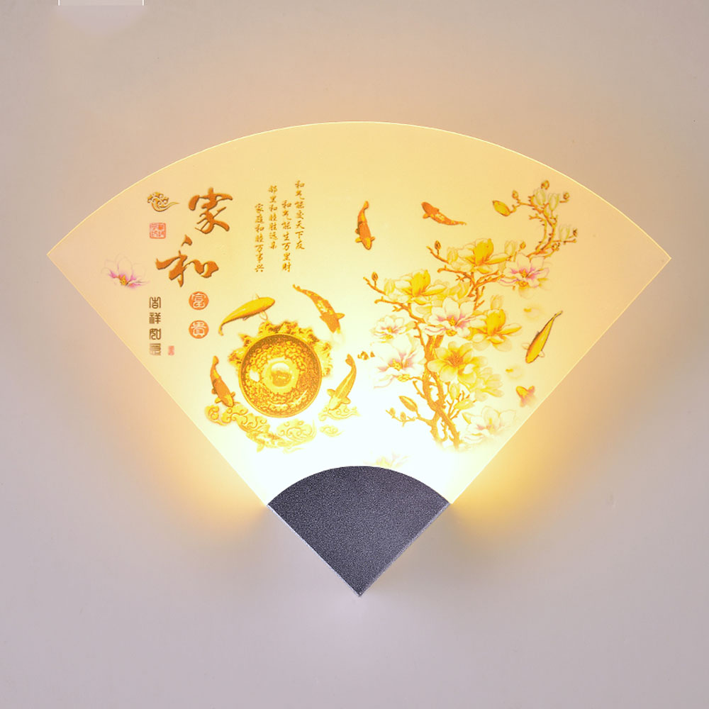 ФОТО Fashion Creative Wall Lamps 110v-220v Indoor Lighting Wall Lamp Vintage Chinese Style Home Decoration Modern Wall Light