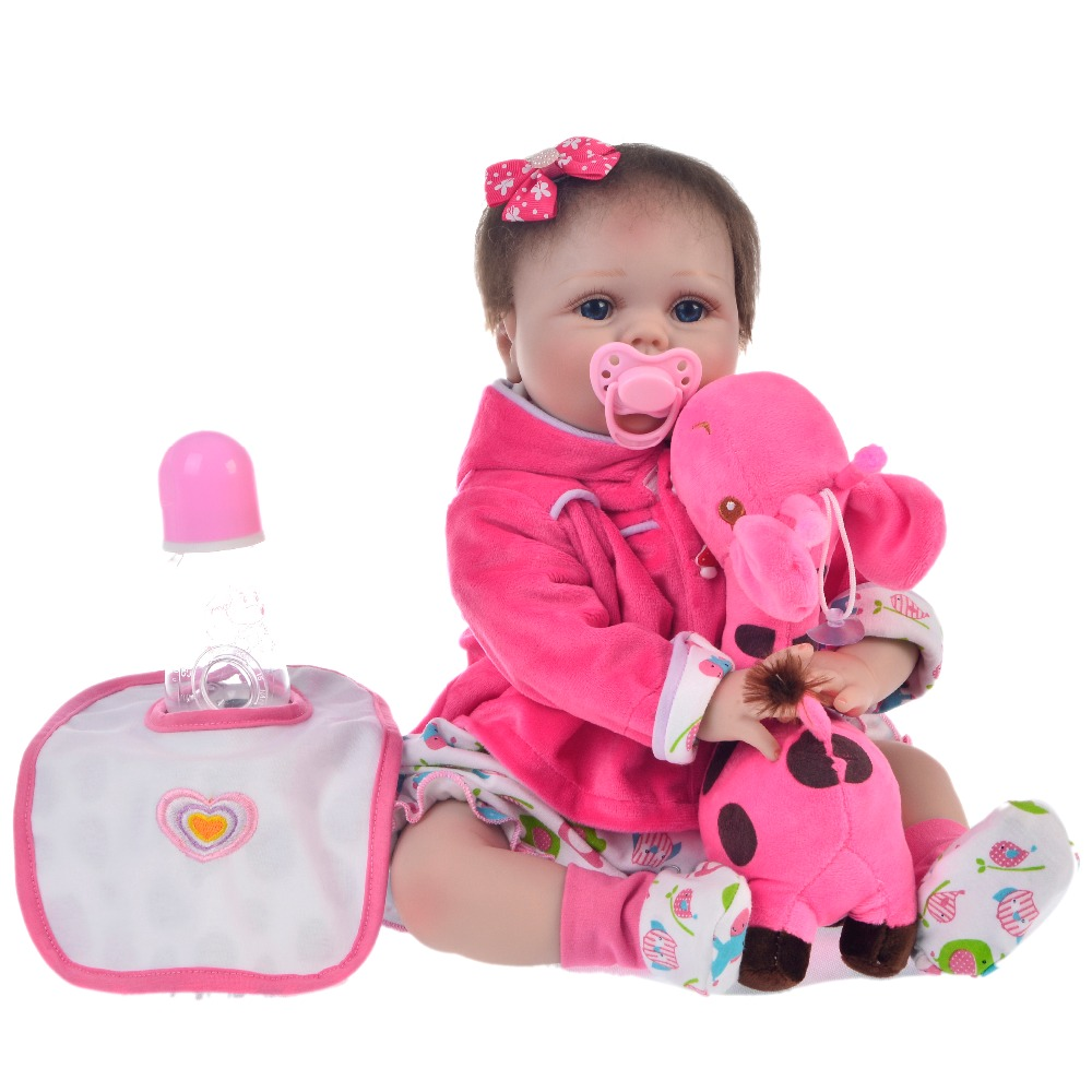 Bebes reborn silicone dolls lifelike 22inch newborn baby toddler doll birthday gift toys for childBebes reborn silicone dolls lifelike 22inch newborn baby toddler doll birthday gift toys for child