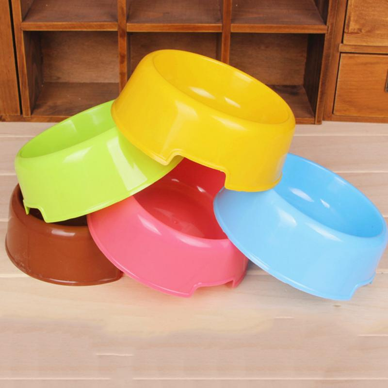 New Arrival Pet Cats Dogs Portable Plastictravel Feeding Bowl Durable Water Dish Feeder Sugar Color Pet Bowl Wholesale