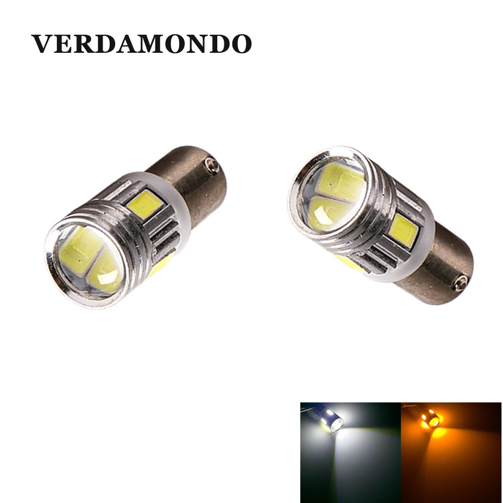 2pcs BA9S T4W 6 Led 5630 5730 Smd Auto Clearance Lights Car Marker Light Parking BULBS Reading Dome Lamp License Plate Light