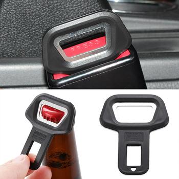 2X akcesoria samochodowe samochód otwieracz do butelek otwieracz do butelek dla Ford Focus 2 3 4 krawędzi Fusion Kuga Ecosport Fiesta Falcon B C s-MAX tanie i dobre opinie Seat Belts Padding Seat Belts Padding Car Safety Seat Belt Buckle Clip Naklejki COAQDKPQ12 Wewnętrzny Other 2 5cm Inne naklejki 3d
