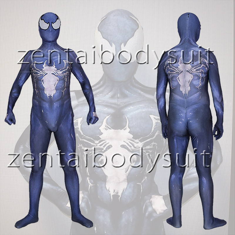3D Print Venom Symbiote Spiderman Suit Spandex Lycra Zentai Cosplay Halloween Party Costume free delivery