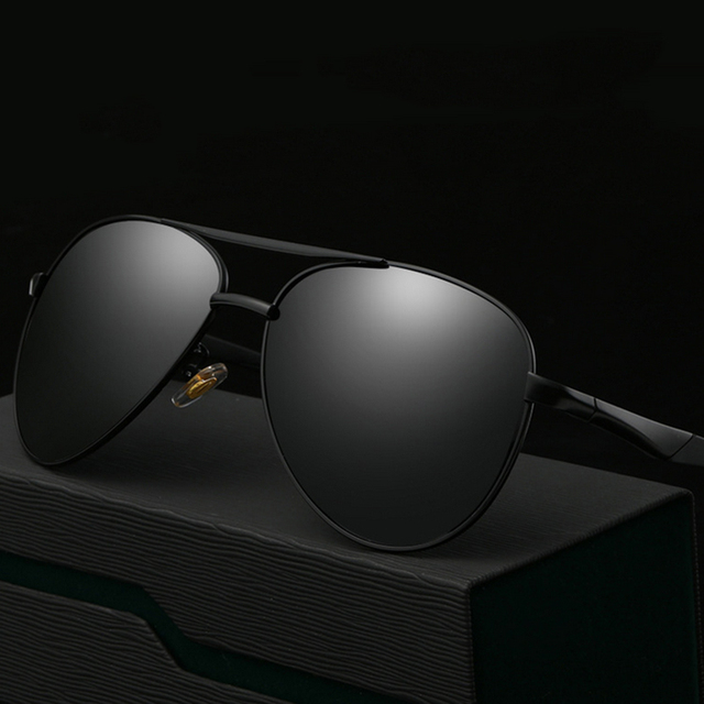 9f418f1d2e08 Men Polarized Luxury Round Outdoor Sunglasses Metal Frame Sun Glasses Male  Driving Fishing Outdoor Eyewears Accessories