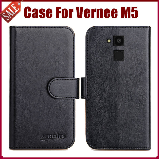Hot Sale! Vernee M5 Case New Arrival 6 Colors High Quality Flip Leather Protective Cover Case For Vernee M5 Case