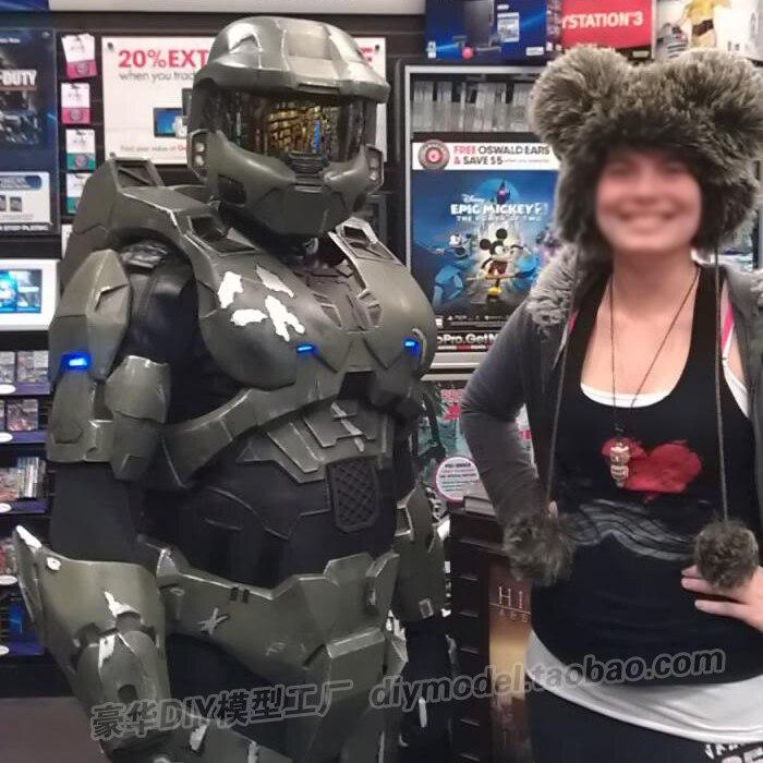 Sergeant Spartan Warrior 1:1 Wearable Full-body Head Armor  Free Cutting EVA Props