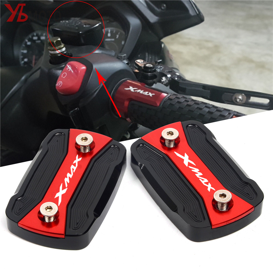 High-Quality Fluid Reservoir Cover For YAMAHA XMAX 300 XMAX300 2017 2018 2019 Motorcycle Accessories  Brake Fluid Tank Cap