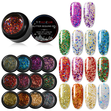 T-TIAO CLUB 2/3/6Pcs Glitter Nail Gel Lacquer Set UV Nail Gel Polish 5ml DIY Nial Art Design Nail Art Decorations complete system pipe for yamaha r3 r25 yzf r3 motorcycle exhaust header front link pipe muffler exhaust with db killer slip on