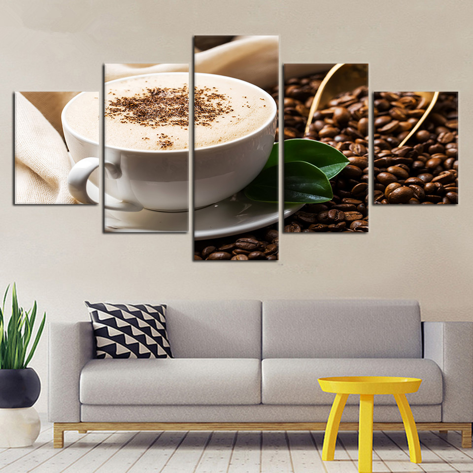 Modern-Pictures-Modular-Drinks-Canvas-Poster-5-Pieces-Coffee-Grain-Cup-Framed-Painting-HD-Printing-Decor (2)