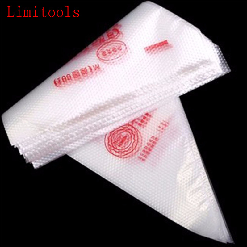 LIMITOOLS 100pcs Disposable Pastry Bag Icing Piping Cake