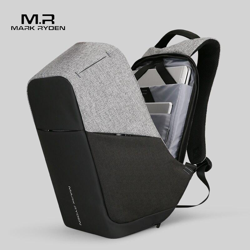 Mark Ryden универсальный Зарядка через USB для мужчин 15 дюймов ноутбука Рюкзаки для подростка Модные мужские Mochila путешествия рюкзак анти вор