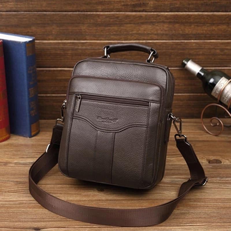 Genuine Leather Men Messenger Bag Business Briefcase iPad tablet Handbags Travel Shoulder Bag Male Crossbody Bags for man 2018 цена 2017