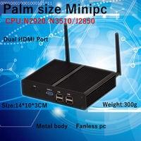 Intel Baytral N2920/N3510/J2850 Mini PC Windows HDMI * 2 Mini PC windows 7/8 OS без вентилятора NUC компьютер TVbox