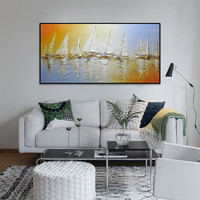 Hand Painted Canvas Oil Paintings Wall Art Pictures For Living Room Cheap Modern Abstract Oil Painting