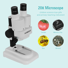 20X LED Binocular Stereo Microscope PCB Solder Tool Insect Plant Watch Students font b Science b