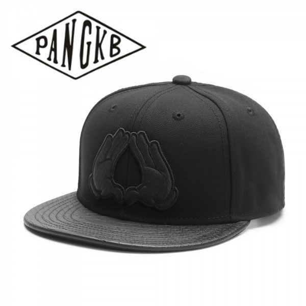 PANGKB Brand BROOKLYN   CAP   White or Black leather brim boy hip hop snapback hat men women adult outdoor casual sun   baseball     cap