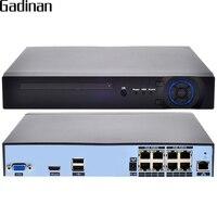 GADINAN H 265 H 264 8CH 48V POE IP Camera NVR Security Surveillance CCTV System P2P