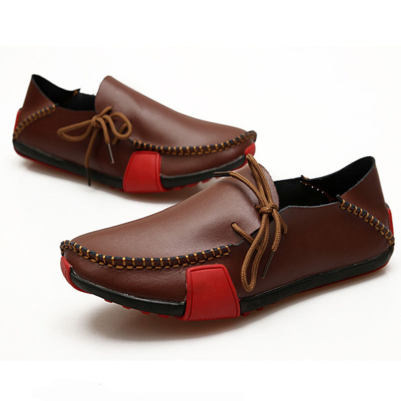 Men's Flats Genuine Leather Slip On Driving Shoes