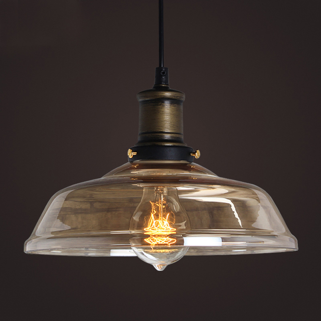 Clear Gl Pendant Light Amber Color Grey Home Decoration Lamps Edison Lights 110v 220v