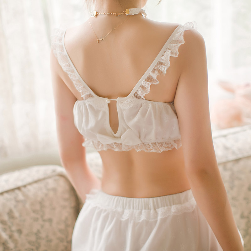 Underwear & Sleepwears Tube Tops Princess Sweet Lolit Tube Tops Candy Rain Summer Refresh Japanese Style Princess White Tube Tops With Lace C16ab6113