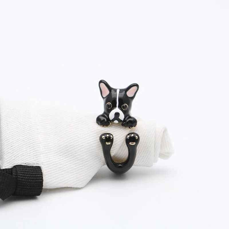 2018 Amybaby Роскошные Эмаль глазури милая собака Чихуахуа цепочки и ожерелья серьги гвоздики кольцо браслет украшения вечерние