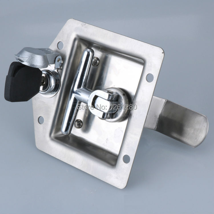 H=44mm lock Hardware Distribution box Electric cabinet lock fire box pull Industrial trailer equipment truck door handle knob 2pcs set stainless steel 90 degree self closing cabinet closet door hinges home roomfurniture hardware accessories supply