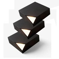 2pcs Ultra Slim Surface Mounted Stairway Light Headboard Reading Lighting Bedside NUKAV Wall Lamp LED 3W