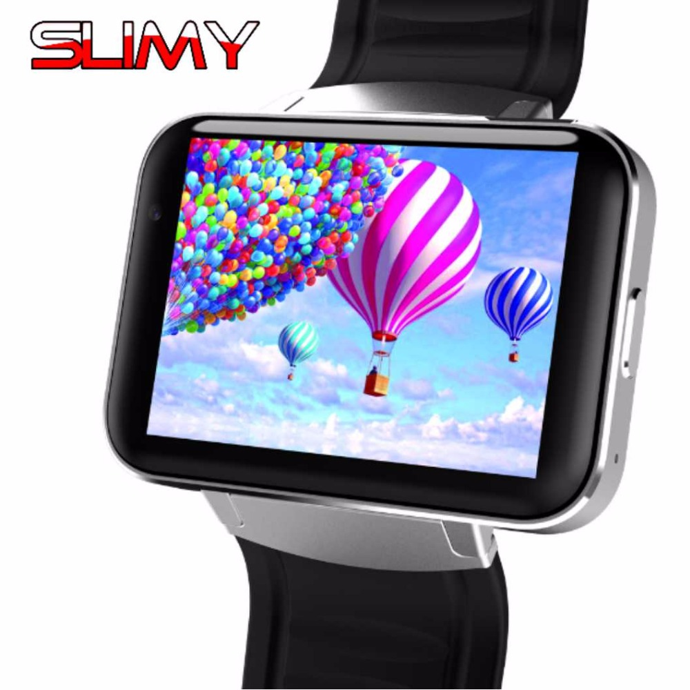 Slimy DM98 Smart Watch Android OS MTK6572 1.2Ghz 2.2 Inch Screen 900mAh Battery 512MB Ram 4GB Rom 3G WCDMA GPS WIFI Smartwatch smart baby watch q60s детские часы с gps голубые
