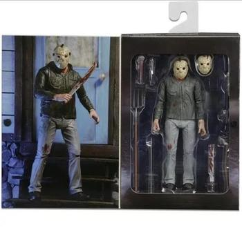 7 Anime Figure NECA PVC Jason Voorhees Friday Ultimate Horror Deluxe Edition Action Figure Model Toys for Collection Gift 7 8 neca predator ultimate 30th anniversary jungle hunter pvc action figure jungle hunter unmasked collectible model doll toys