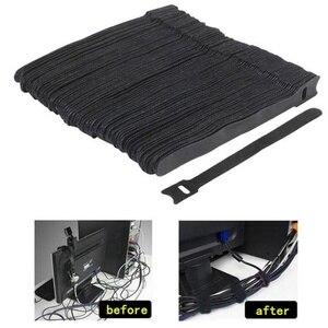 50 sztuk danych trytytka nylonowy haczyk pętli kabel kable w wiązce kabel zapięcia Marker pasy przewód zasilający zarządzanie