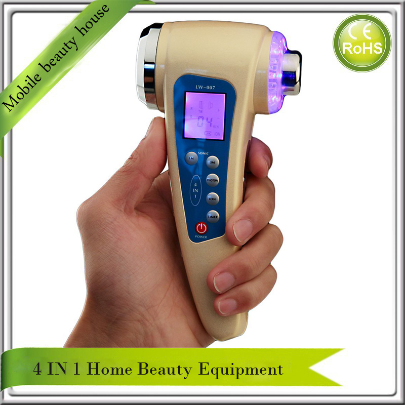 ultrasound 1mhz &3mhz Galvanic Ion Pores Cleanser Photon Rejuvenation Face Body Skin Firming Beauty Care Equipment Home Use portable home use led photon blue green yellow red light therapy beauty device for face and body skin rejuvenation firming